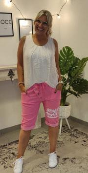 Caprihose NEVER AGAIN Pink