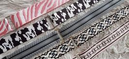 Taschenriemen Schwarz/Weiß Streifen