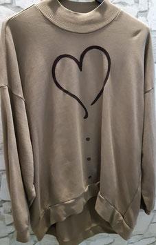 """Shirt """"Heart"""" Beige"""