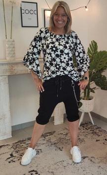 Baggy Shorts HANA mit Gliederkette Schwarz