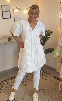 Tunikakleid LISA Creme/Weiß