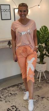 Tshirt SMILE STRIPES Orange