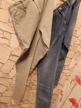 Jeans Basic Grau 48
