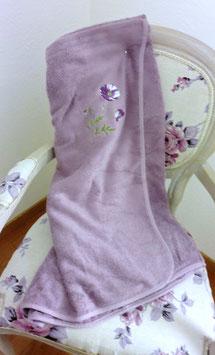 Sortie de bain en éponge lilas
