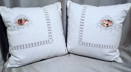 Housse coussin shabby chic
