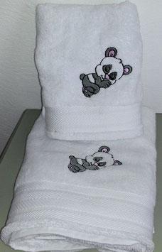 Serviette et drap de douche Panda