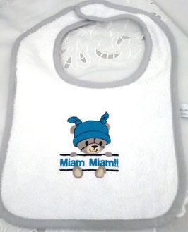 Bavoir bébé  ourson Miam Miam