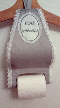 Reserve papier toilette  gris 1 rouleau