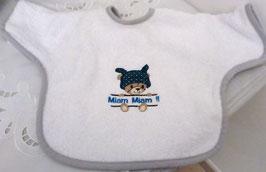 Bavoir bébé à manches ourson