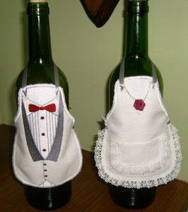 Tablier pour bouteille de vin