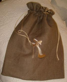 sac chaussures lin marron