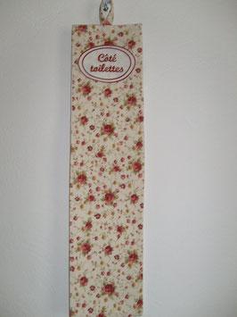 réserve papier toilette fleuri RPW05
