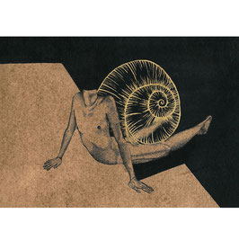 FIGURATIVE-SNAIL: limited edition fine art print 24cm x 30cm