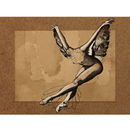 FIGURATIVE-HUMMINGBIRD: limited edition fine art print 18cm x 24cm