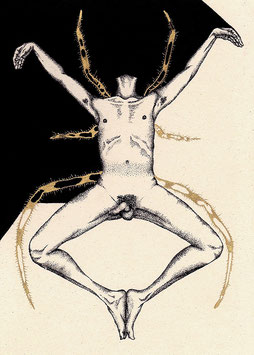 FIGURATIVE-SPIDER : limited edition fine art print 29.7cm x 21cm