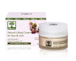 Natürliche Lifting-Creme für Gesicht & Dekolleté
