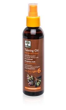 Bräunungsöl mit niedrigem Sonnenschutz SPF 6