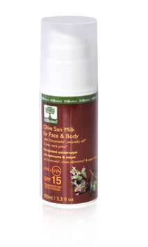 Olivenöl Sonnenmilch für Gesicht & Körper / Mittlerer Schutz SPF 15
