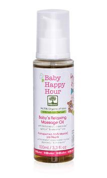 Happy Hour – Entspannendes beruhigendes Massageöl für Babys