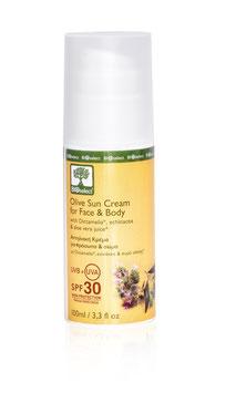 Olivenöl Sonnencreme für Gesicht & Körper / Hoher Schutz SPF 30
