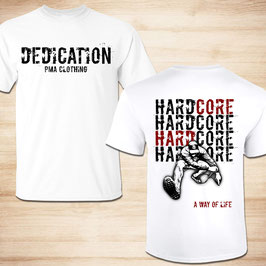 T-Shirt - Dedication PMA Clothing - Weiß  - Restposten!!!! & 2. Wahl