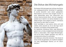Die Statue des Michelangelo