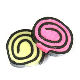 Lakritzrollen, Kokos pink (einzeln verpackt)