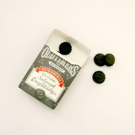 Lakritzrädchen Salmiak, grau, Zuckerfrei