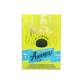 Schachtel: Amarelli al Morette, Zitrone, gelb