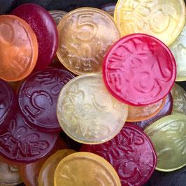 Fruchtige Münzen (Zuckerfrei)