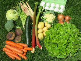 Eier und Gemüse Abo