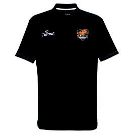 """Spalding Polo Shirt Slim Cut """"Dragons Rhöndorf"""" schwarz"""