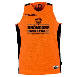 """Spalding Essential Reversible Trikot """"Rhöndorf Basketball"""" orange/schwarz"""