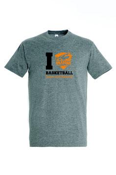 """Basic T-Shirt """"Drachenliebe"""" grau"""
