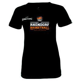 "Spalding Team II T-Shirt 4Her ""Rhöndorf Basketball"" schwarz"
