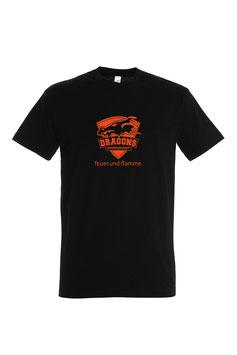 "Basic T-Shirt ""Logo neon"" schwarz"