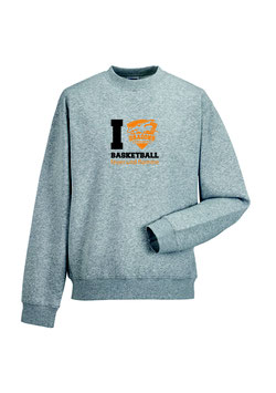 "Premium Sweatshirt ""Drachenliebe"" grau"