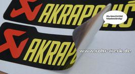 AKRAPOVIC  (Original) 2 Stück Aufkleber