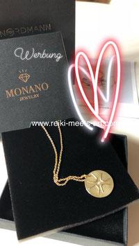 Engelsymbolkette Wiebke Gottschalk GOLD mit Diamant, 585er, 50 cm Ankerkette