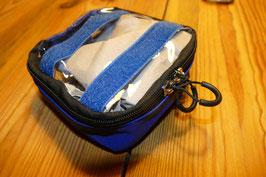 Innentasche - klein mit Klettbändern, Farbe blau