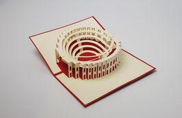 Popgrats Colosseum Rom 3D Grußkarte