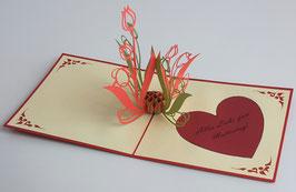 Popgrats Tulpen 3D Grußkarte zum Muttertag