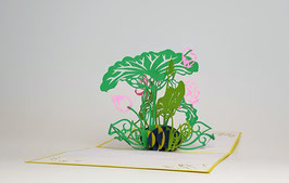 Popgrats Lotus Pflanze 3D Grußkarte