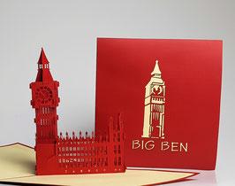Popgrats London Big Ben 3D Grußkarte