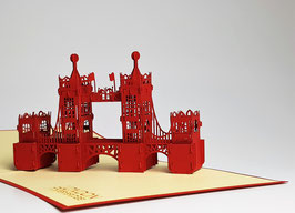 Popgrats Tower Bridge London 3D Grußkarte