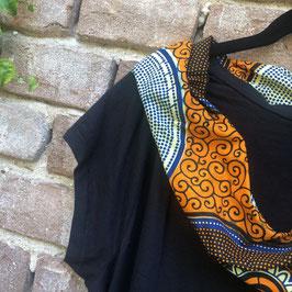 SALE!! T-shirt mit afrikanischem Waxprint-Kragen (Nr. 4)