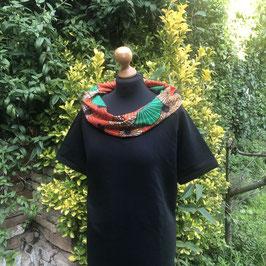SALE!! Kleid mit afrikanischem Waxprint-Kragen (Nr.4)
