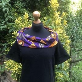 SALE!! Kleid mit afrikanischem  Waxprint-Kragen (Nr. 12)