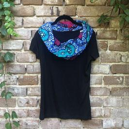 SALE!! T-shirt mit afrikanischem Waxprint-Kragen (Nr. 12)