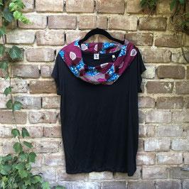 SALE!! T-shirt mit afrikanischem Waxprint-Kragen (Nr. 16)